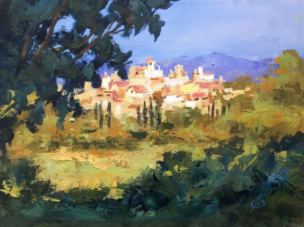 """UNDER THE TUSCAN SUN"" original fine art by Tom Brown"