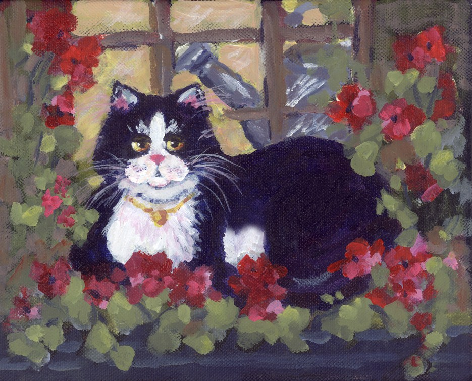 """Greenhouse Guardian"" original fine art by Pamela Gatens"