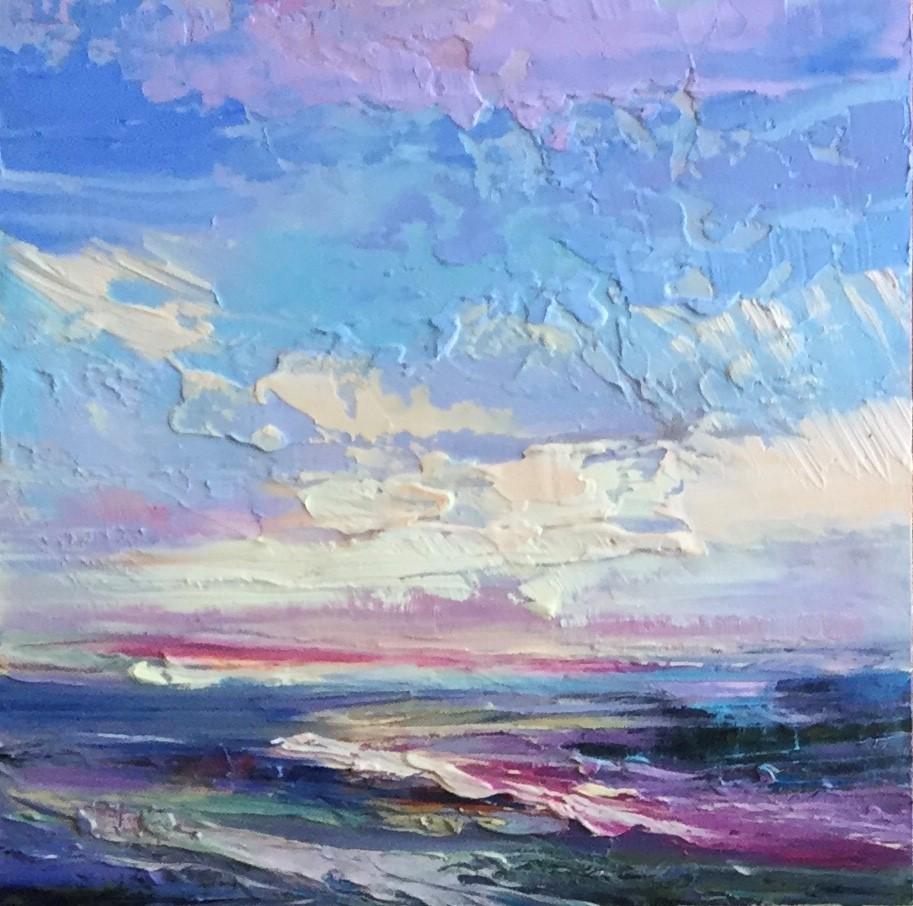 """""""Impasto Seascape 13"""" original fine art by Charlotte Fitzgerald"""