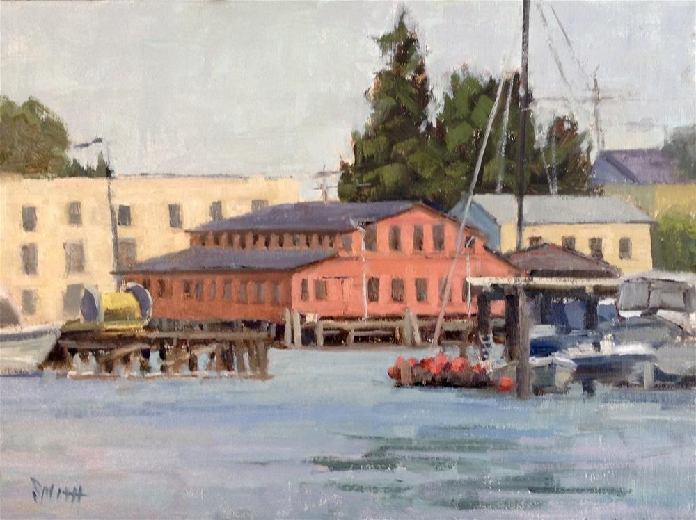 """Waterfront"" original fine art by Barbie Smith"