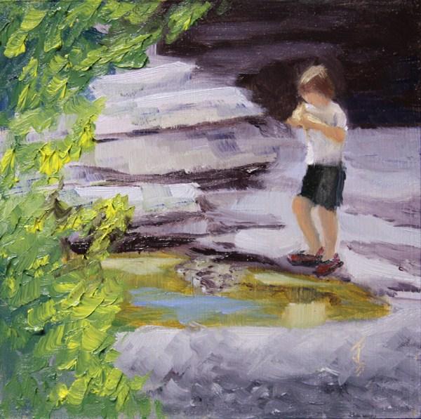 """Playing Hooky"" original fine art by Jane Frederick"