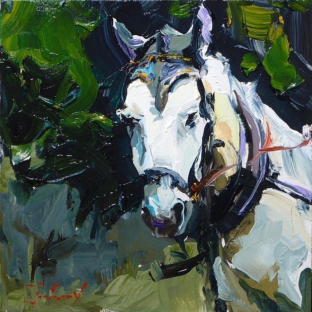 """My new friend"" original fine art by Jurij Frey"
