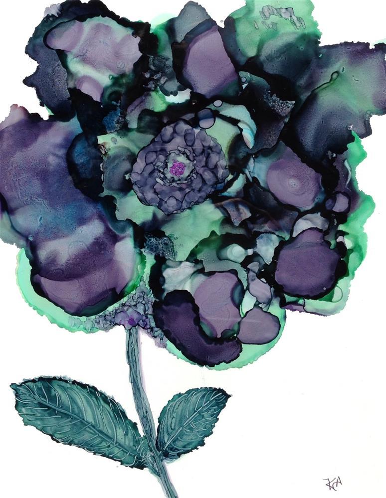 """""""plumb flower"""" original fine art by Kris Alge"""