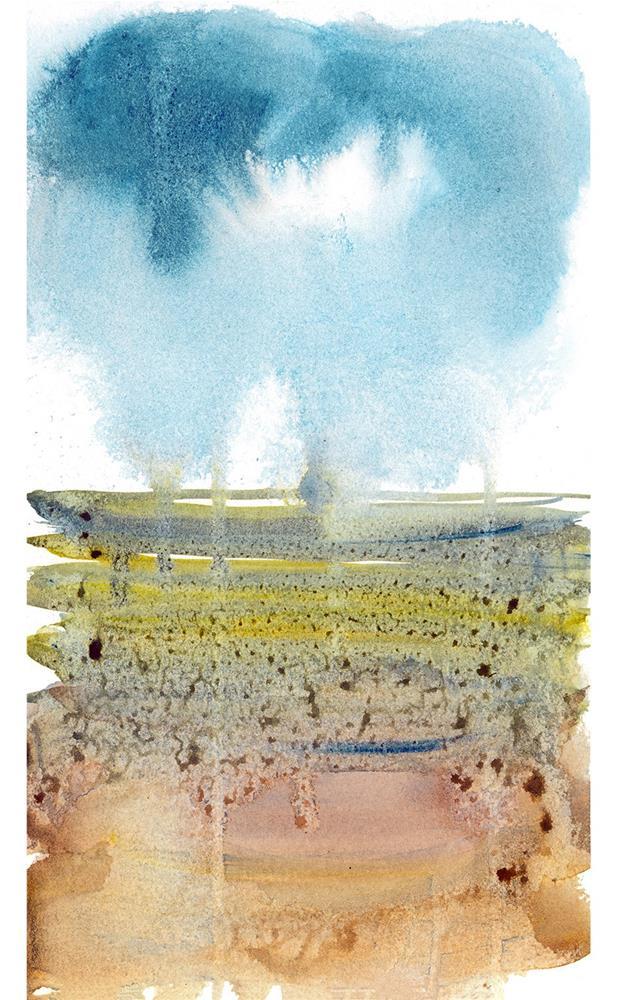 """Left Coast  Impressions 5"" original fine art by Tonya Doughty"