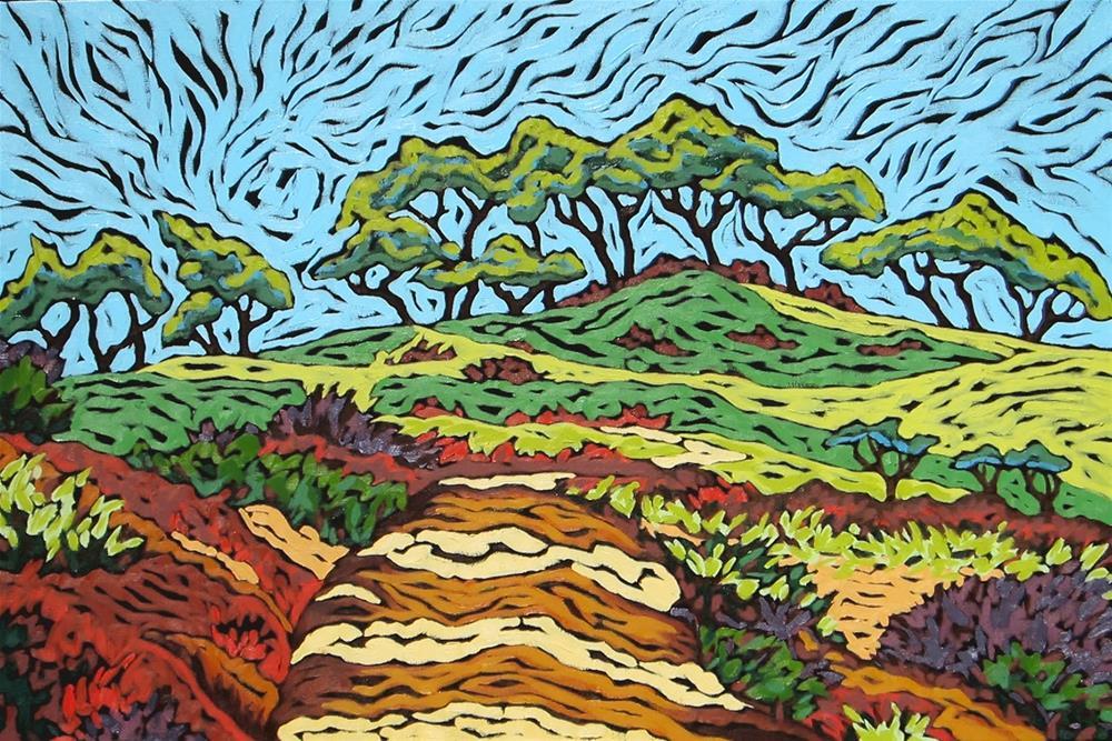 """""""Touch of Torrey Pines"""" original fine art by Monique Straub"""