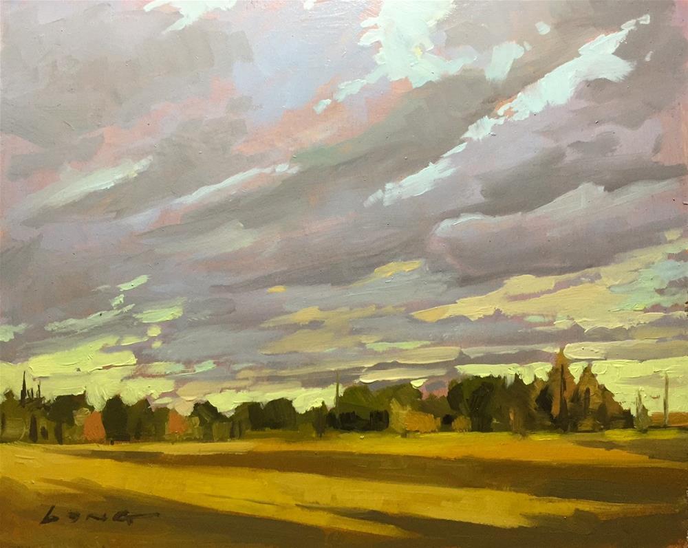 """Shadows of Tall Trees"" original fine art by Chris Long"