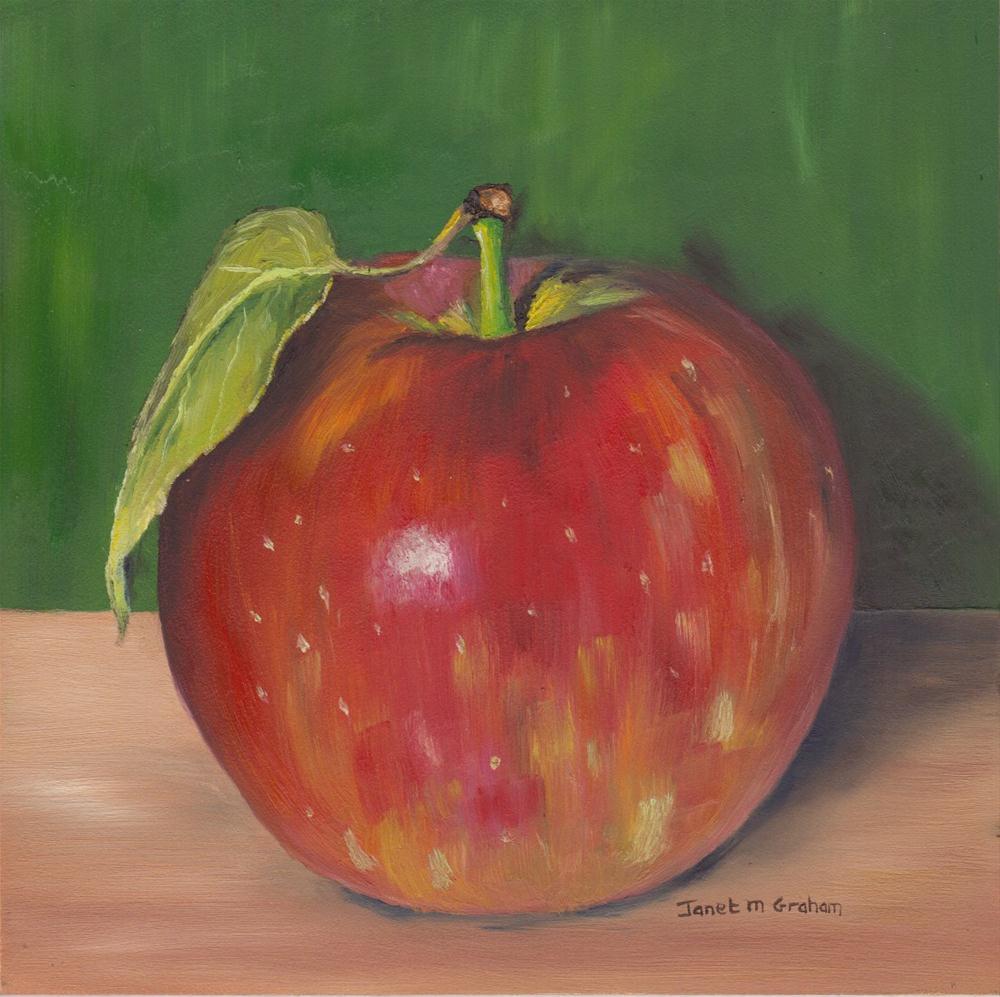 """Gala Apple 2"" original fine art by Janet Graham"
