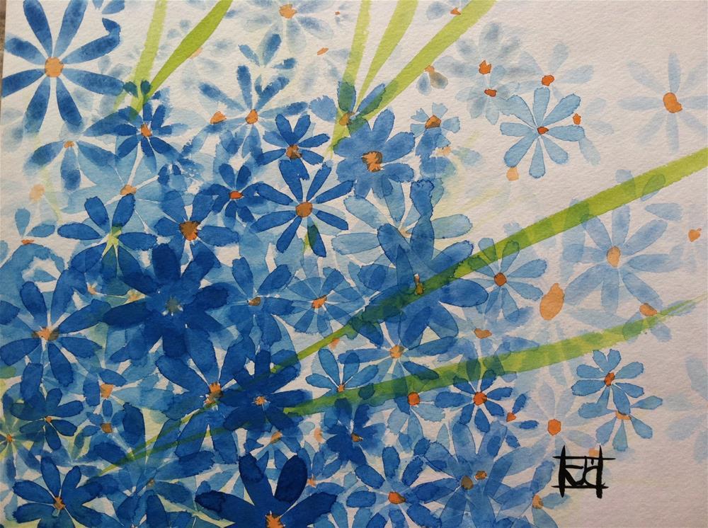 """""""Wild Flower-4"""" original fine art by Arron McGuire"""