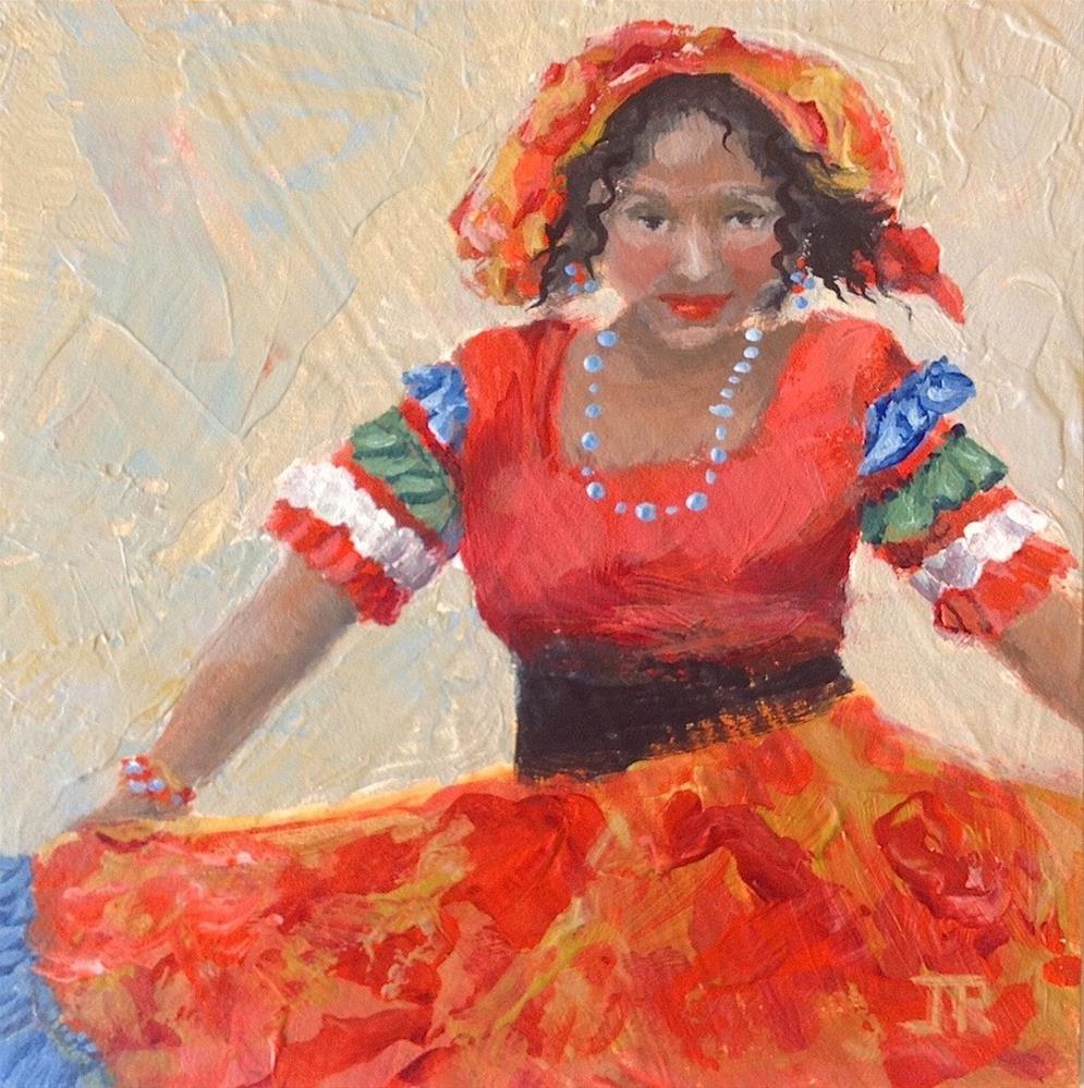 """Let's Dance"" original fine art by June Rollins"