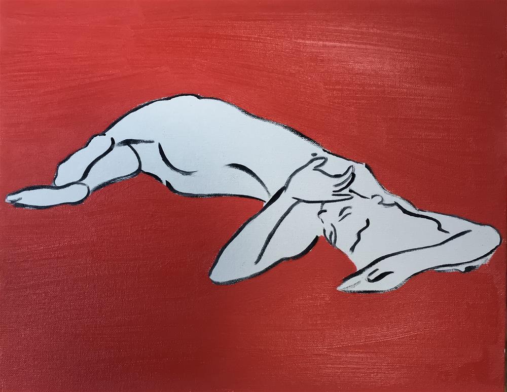 """""""Nude"""" original fine art by James Coates"""