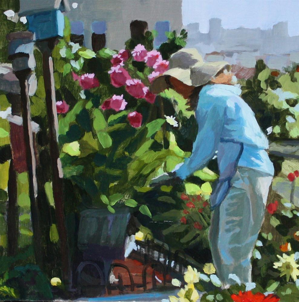 """""""Spring Garden"""" original fine art by Kaethe Bealer"""