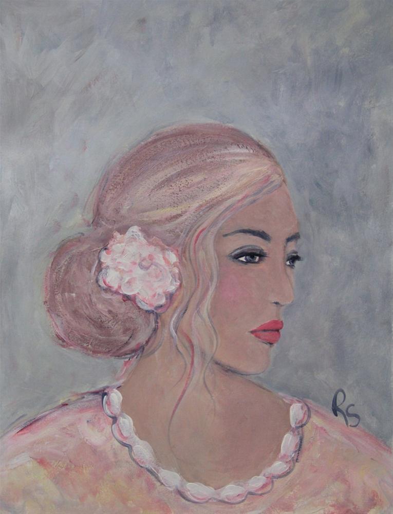 """""""She Looked Away"""" original fine art by Roberta Schmidt"""