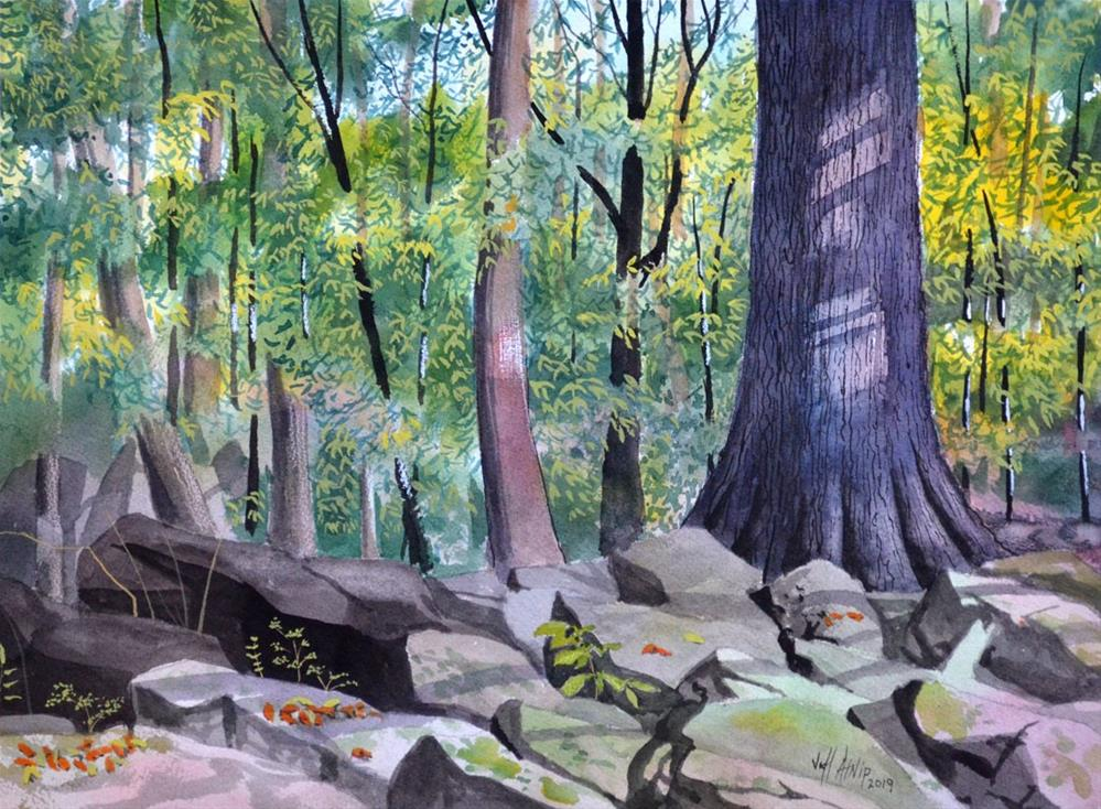 """Trail Stop"" original fine art by Jeff Atnip"