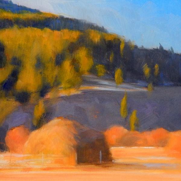 """""""Haystack Near Elliston"""" original fine art by Carolyn Caldwell"""
