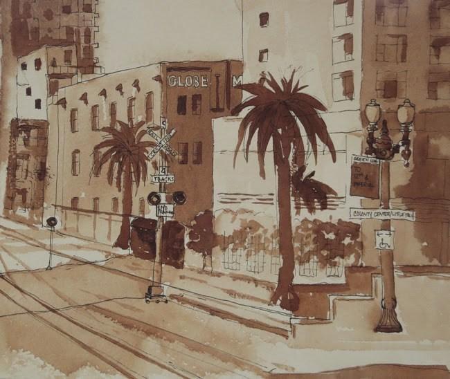 """Trolley Stop at Globe Mills"" original fine art by Katharine Engh"