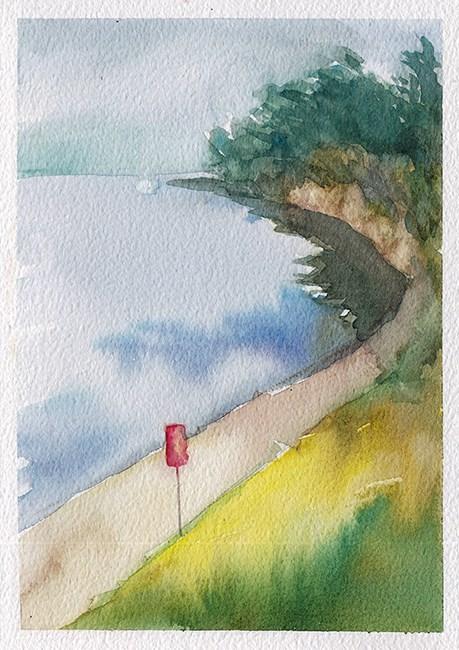 """A Path By The Sea"" original fine art by J M Needham"