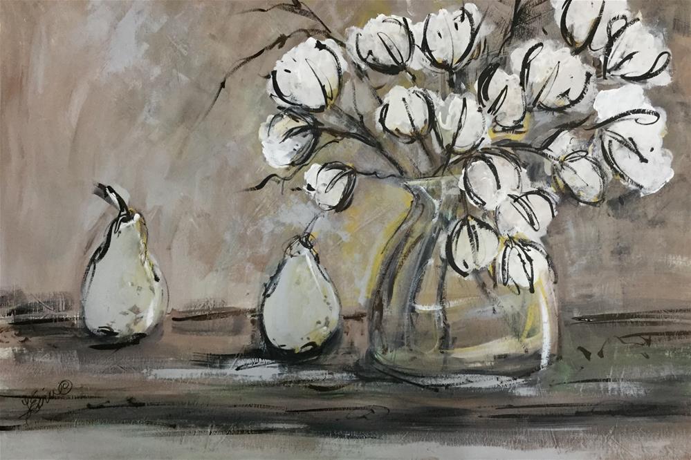 """""""In the Land of Cotton"""" original fine art by Terri Einer"""
