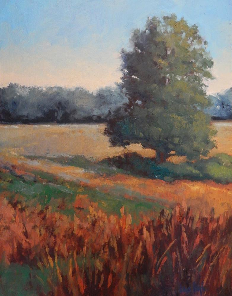 """Gold in the Meadow"" original fine art by Lisa Kyle"