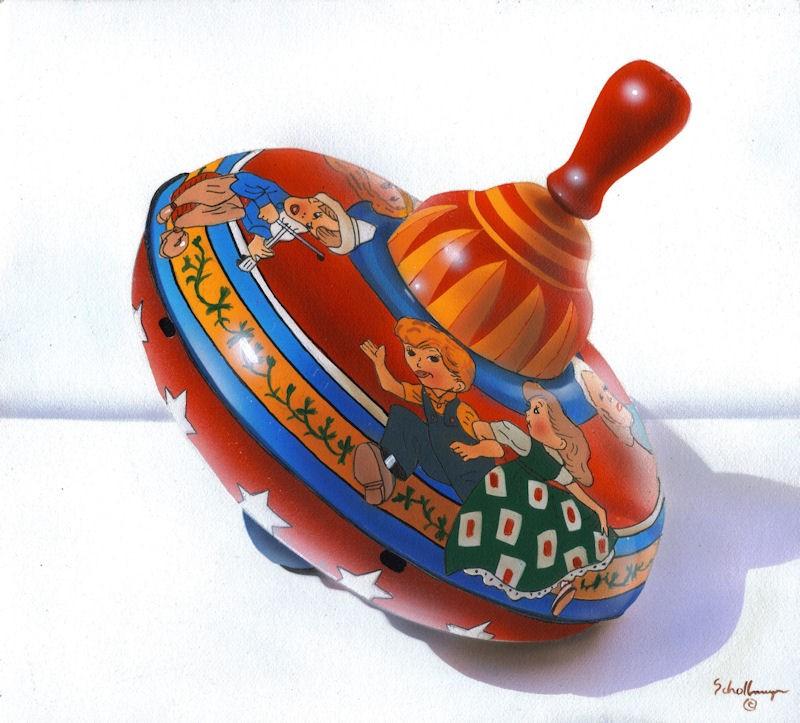 """Dancing Children Top"" original fine art by Fred Schollmeyer"