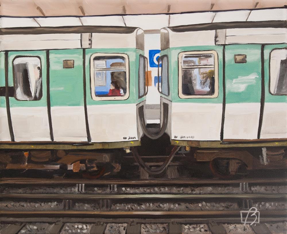 """Opera Metro (Paris)"" original fine art by Andre Beaulieu"
