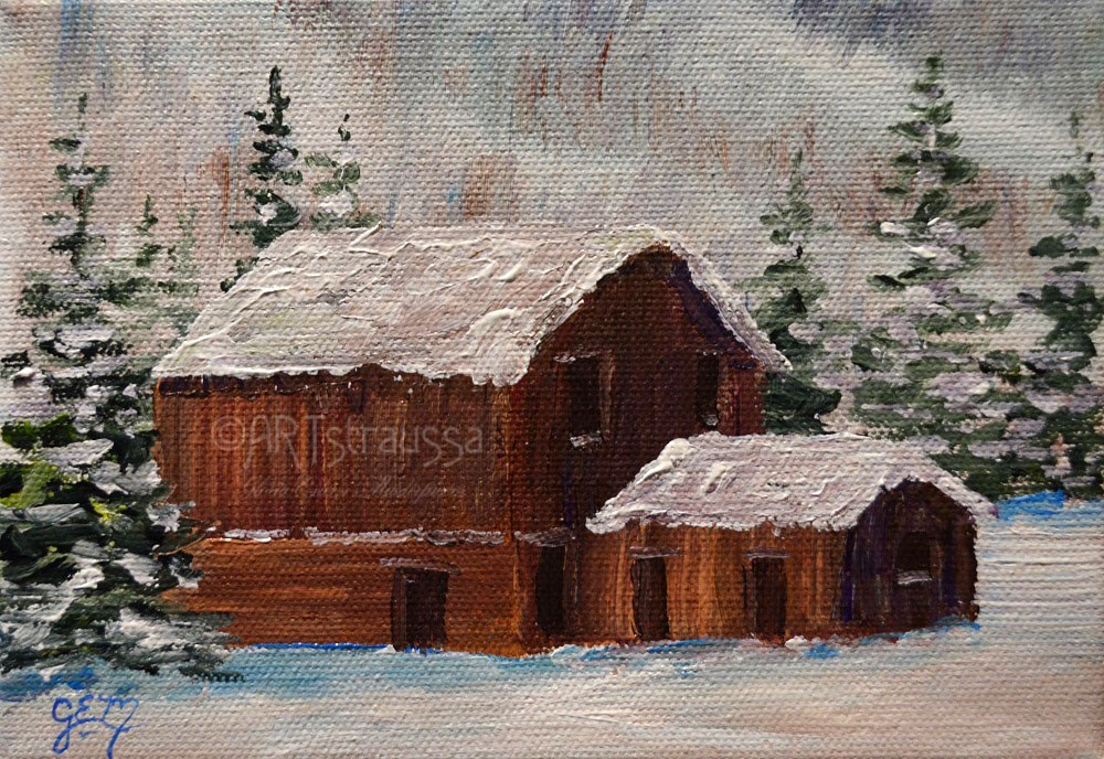 """Ashcroft Snow"" original fine art by Gloria Ester"