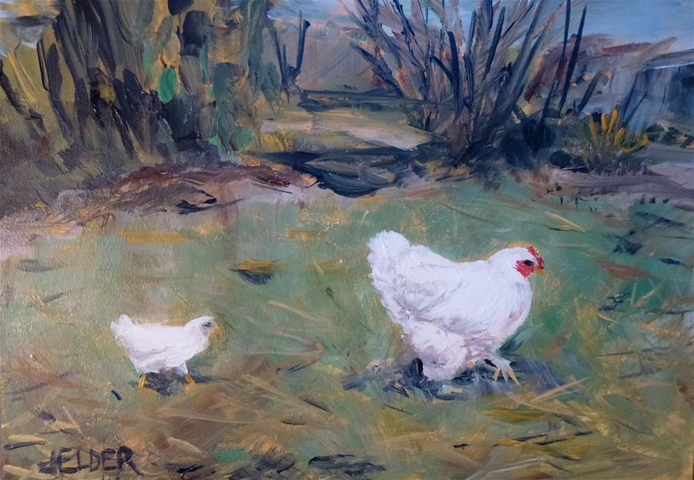 """Wait For Me"" original fine art by Judith Elder"