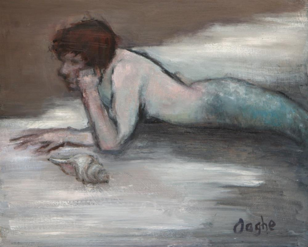 """""""Young Triton"""" original fine art by Angela Ooghe"""