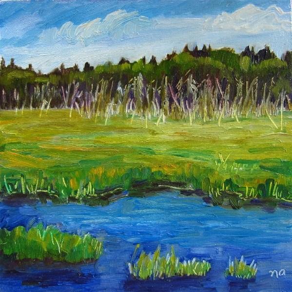"""""""Waterlogged"""" original fine art by Nicki Ault"""