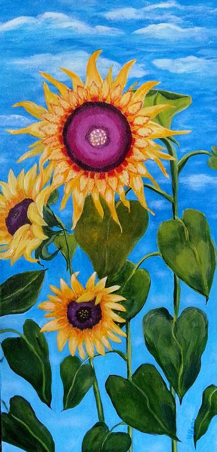"""Dance of the Sunflower Queen"" original fine art by Sunny Williams"