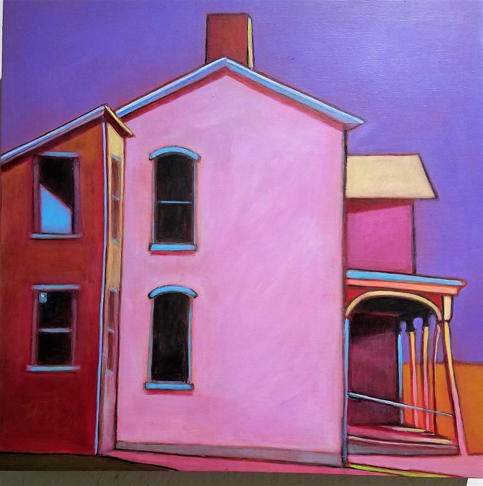 """Prairie Pink"" original fine art by Almira Hill Grammer"