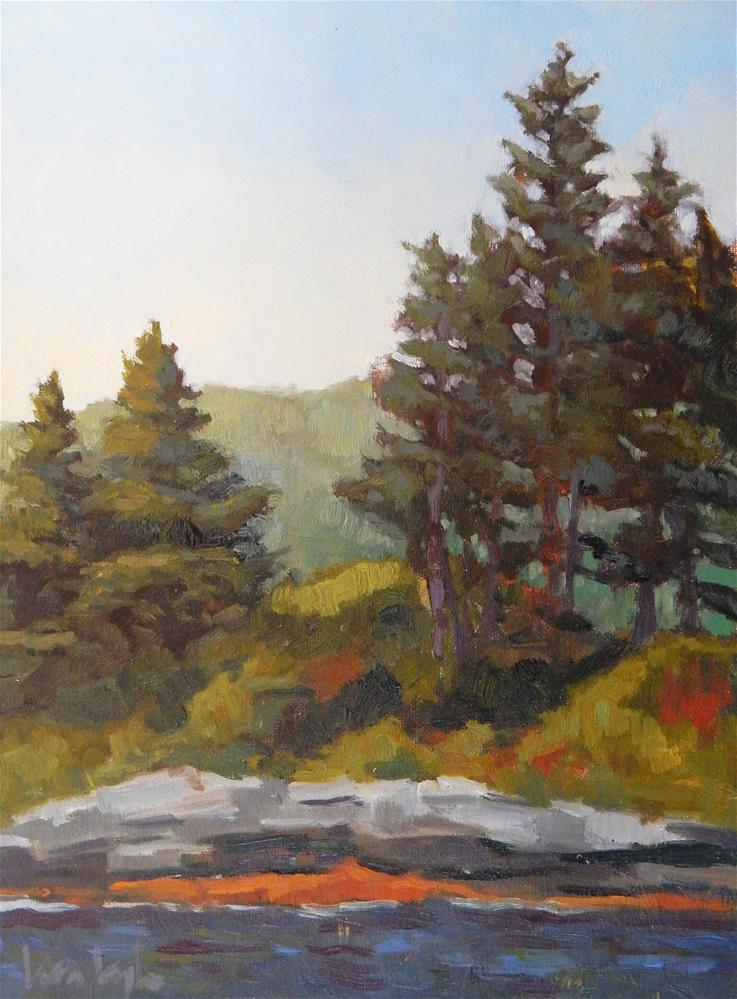 """High Noon, Pemaquid Point"" original fine art by Lisa Kyle"