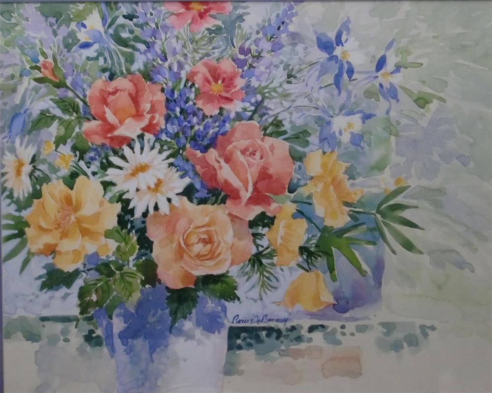 """""""Rose Bouquet framed"""" original fine art by Jean Pierre DeBernay"""