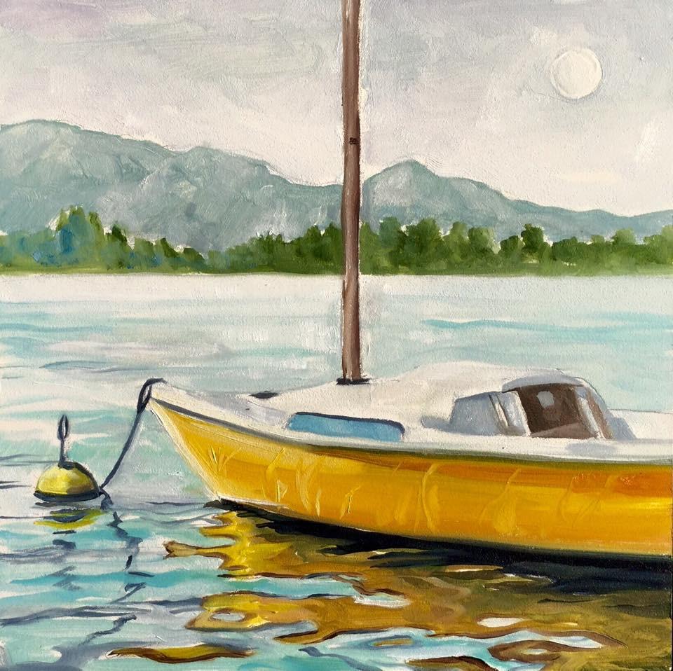 """The Sunfish"" original fine art by Lauren Kuhn"