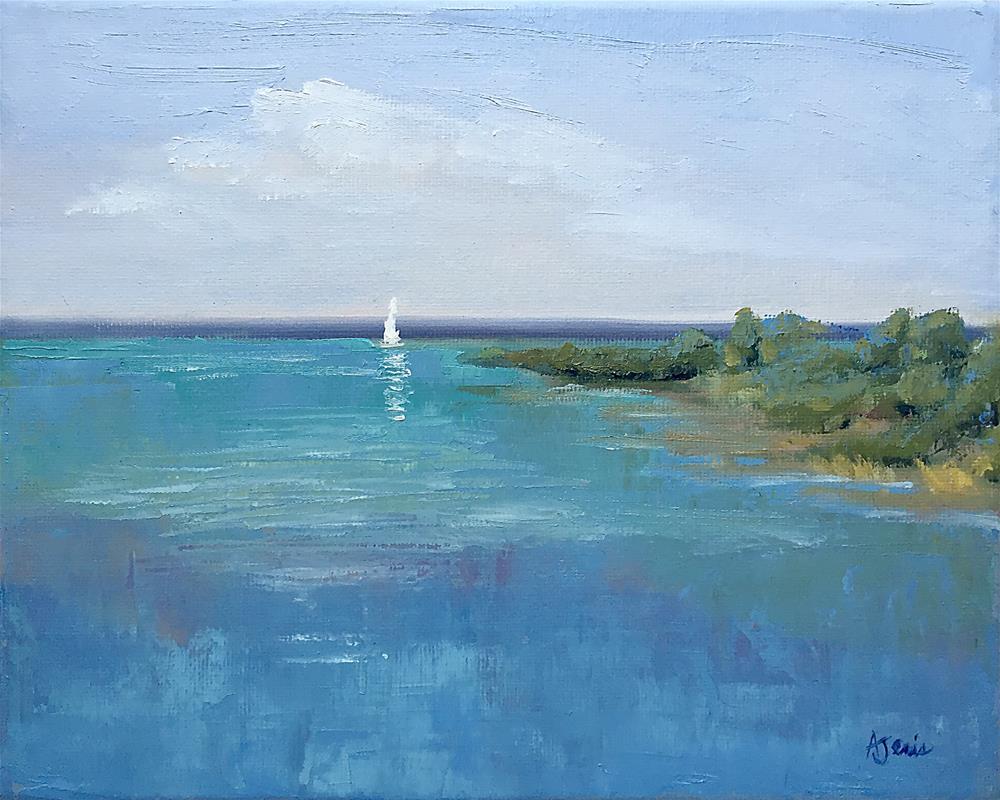 """Grand Traverse Bay I"" original fine art by Andrea Jeris"