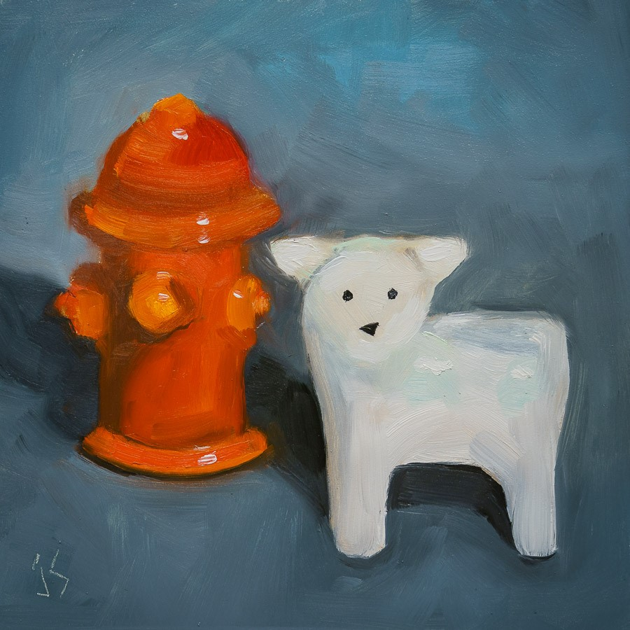 """Salt & Pepper"" original fine art by Johnna Schelling"