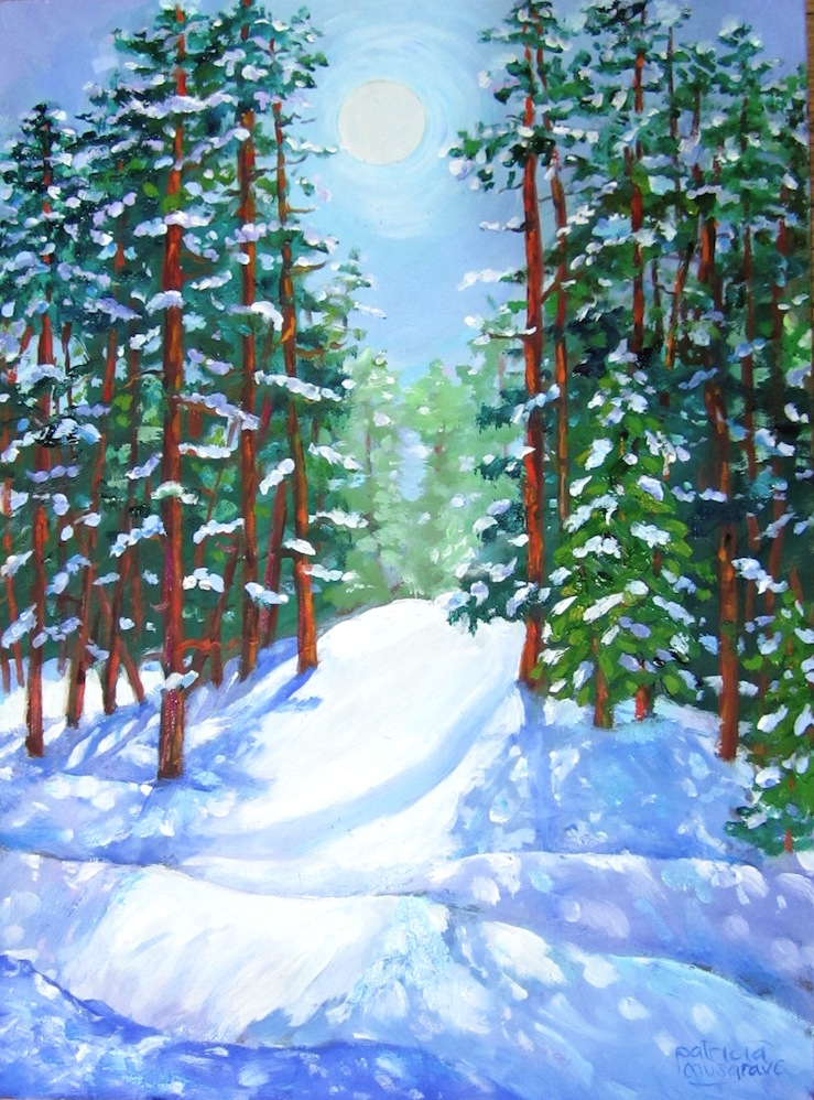 """""""Snowy Morning, Summit County"""" original fine art by Patricia Musgrave"""