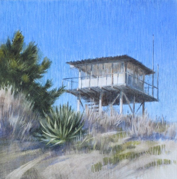 """Fire Lookout on Morton Peak"" original fine art by Ginger Pena"