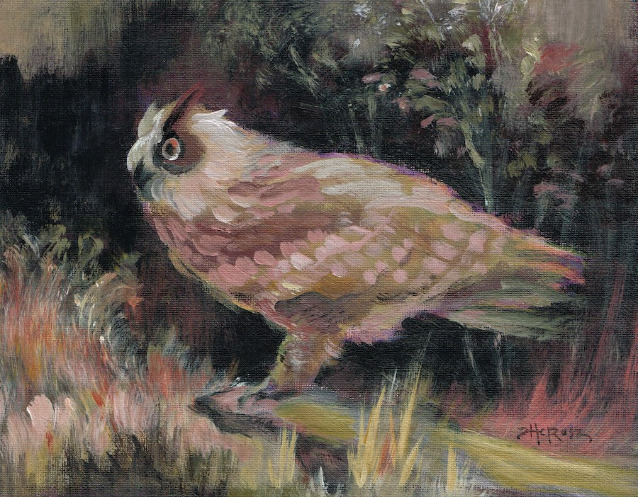 """""""Well Owl Be"""" original fine art by Theresa Taylor Bayer"""