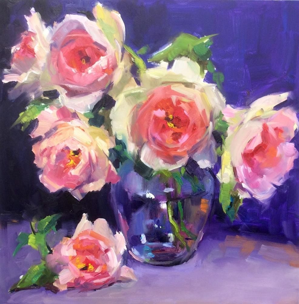 """The Beauty of Roses"" original fine art by Laurie Johnson Lepkowska"