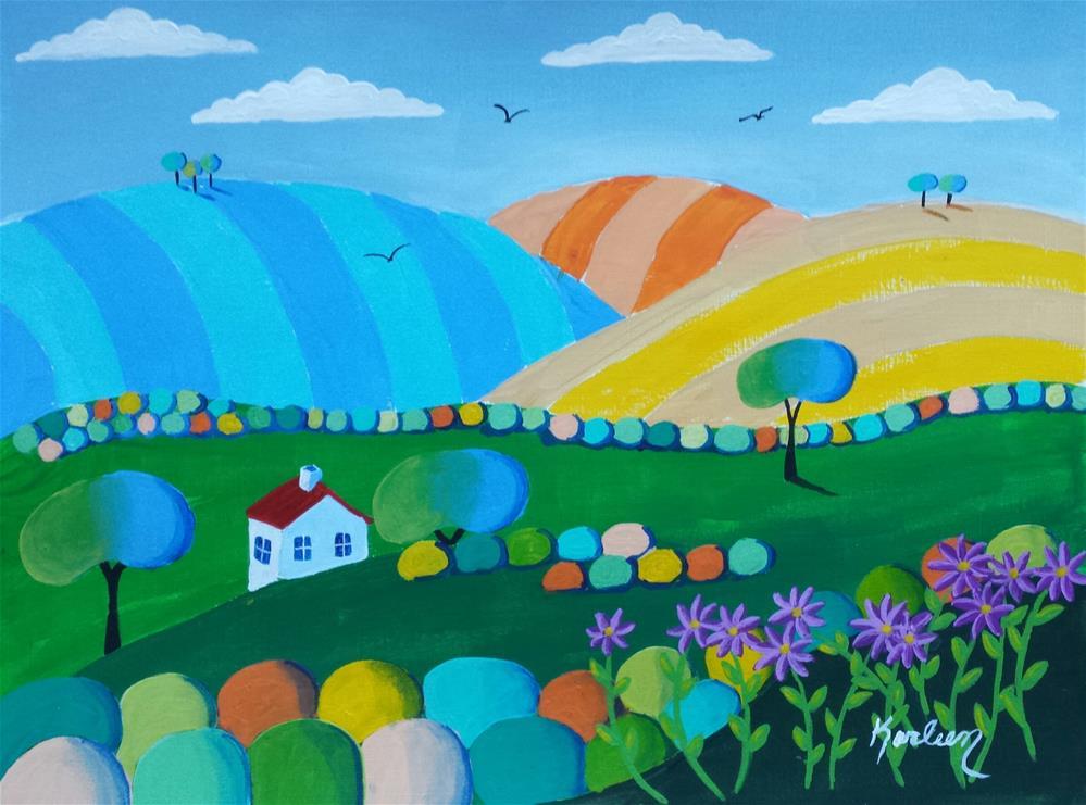 """""""Solitary Living"""" original fine art by Karleen Kareem"""