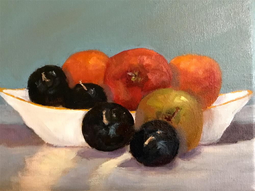 """big bowl of fruit"" original fine art by Betty Argiros"