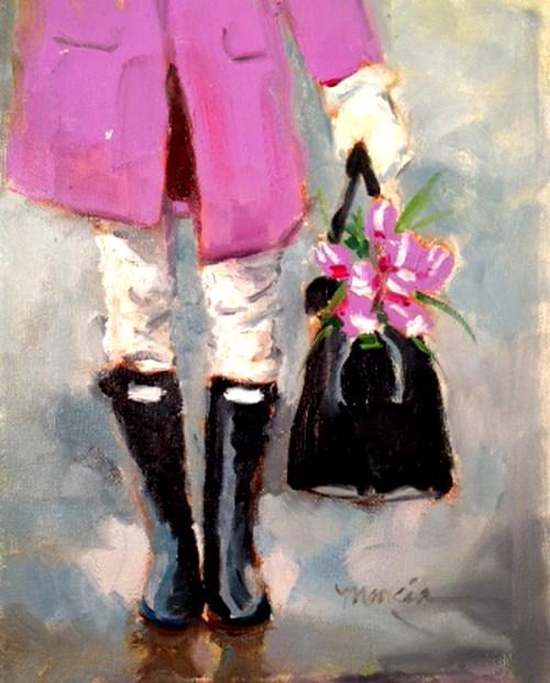 """My New Favorite Color"" original fine art by Marcia Hodges"