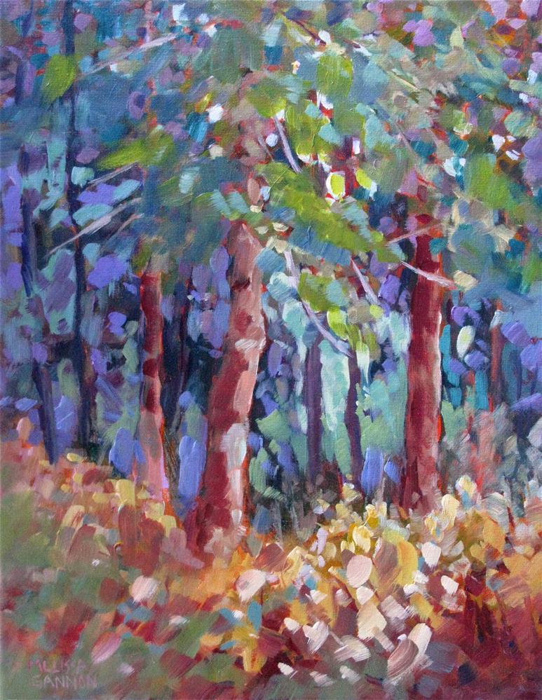 """""""Dense Woods"""" original fine art by Melissa Gannon"""