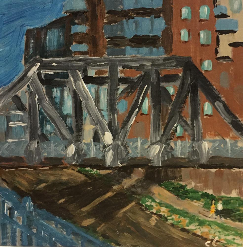 """The Resting Bridge"" original fine art by Cheree Apalona Lueck"