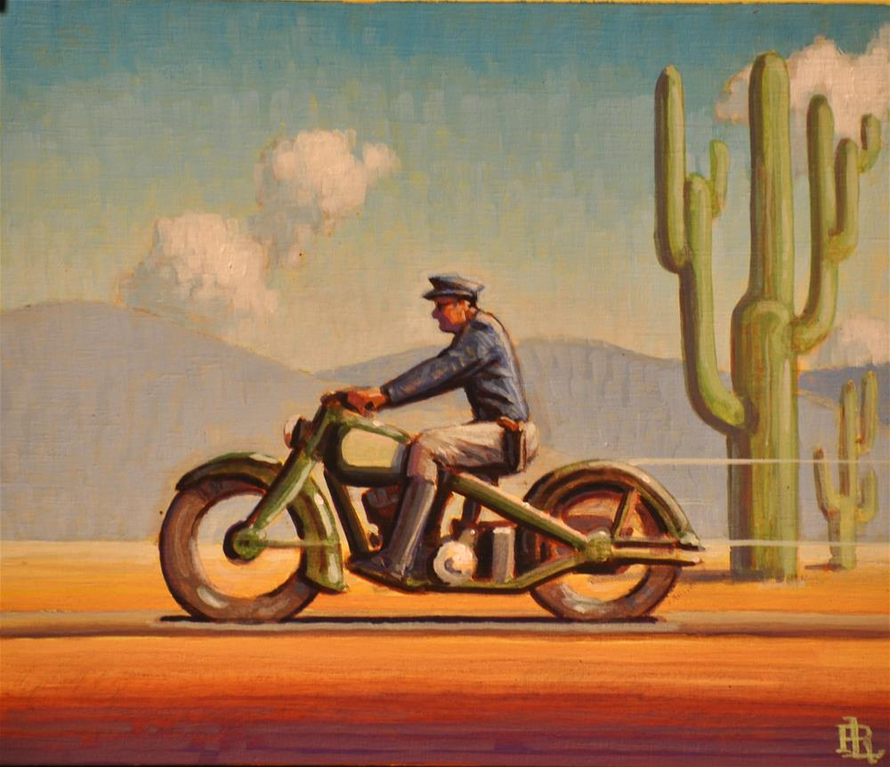 """""""Desert Patrol"""" original fine art by Robert LaDuke"""