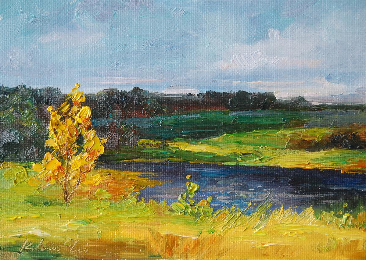 """""""Creekside"""" original fine art by Kelvin Lei"""