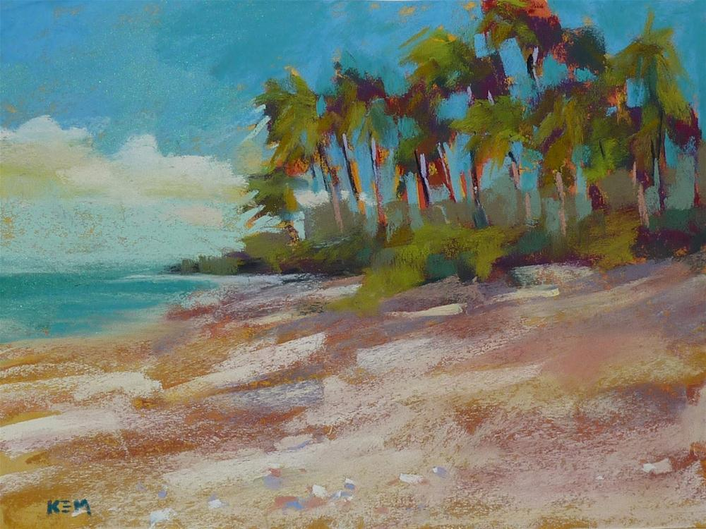 """""""Beach Week: How to Paint Sand with Pastels"""" original fine art by Karen Margulis"""