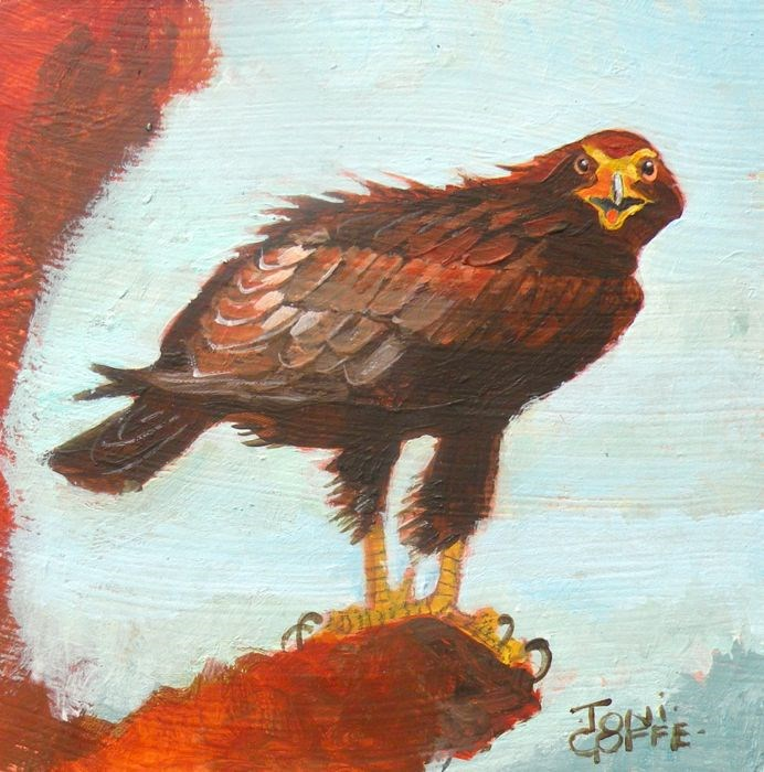 """Golden Eagle"" original fine art by Toni Goffe"
