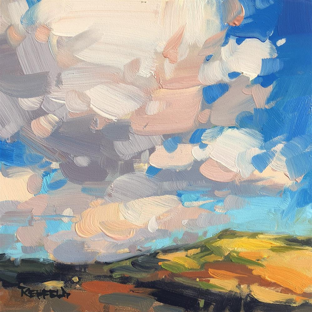 """Puffy Clouds"" original fine art by Cathleen Rehfeld"