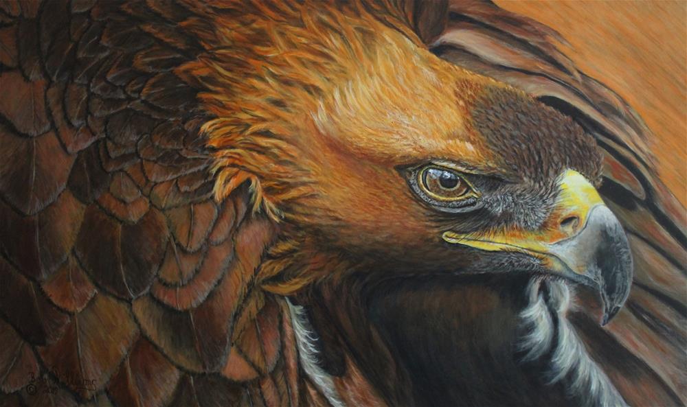 """""""The Magnificent Golden Eagle"""" original fine art by Bob Williams"""